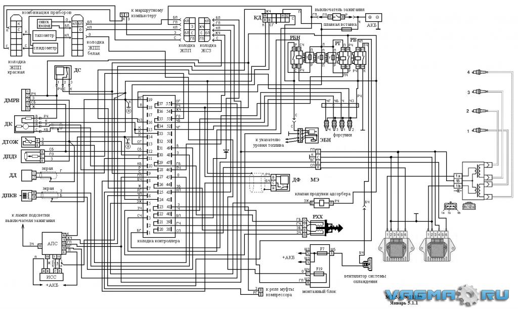 Это схема переделки проводки