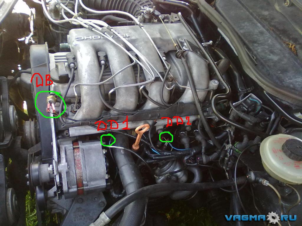 схема датчиков вентилятора охлаждения ауди 80 б3